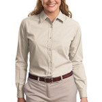 Finest quality Ladies Long Sleeve Easy Care Soil Resistant Shirt